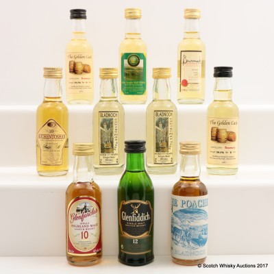 Assorted Minis 10 x 5cl Including Glenfiddich 12 Year Old