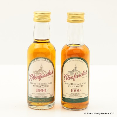 Glenfarclas 1994 Family Malt Collection Mini 5cl & Glenfarclas 1990 Family Malt Collection Mini 5cl