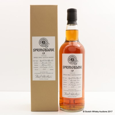 Springbank 1990 17 Year Old Society Bottling