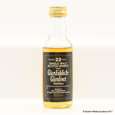 Glenfiddich-Glenlivet 22 Year Old Cadenhead's Mini 5cl