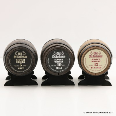 Old St Andrews Mini Whisky Barrel Collection 3 x 5cl