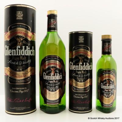 Glenfiddich Pure Malt 1L & Glenfiddich Pure Malt 37.5cl