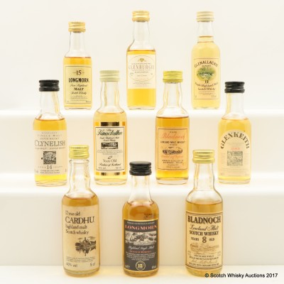 Assorted Minis 10 x 5cl Including Longmorn 15 Year Old