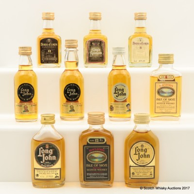 Assorted Minis 10 x 5cl Including MacLeod's 12 Year Old Isle Of Skye