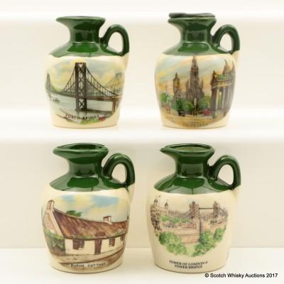 Assorted Lindisfarne Ceramic Flagon Minis 4 x 4.75cl