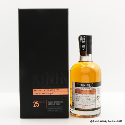 Kininvie 1990 25 Year Old Single Cask #20 'The First Drops' 35cl