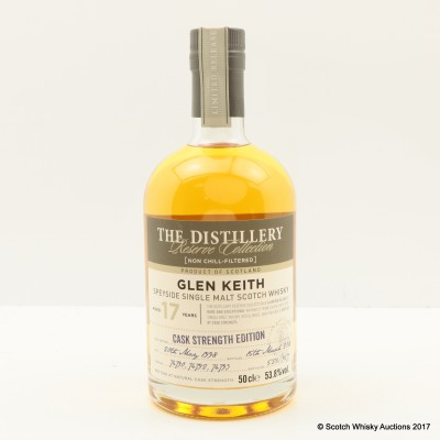 Glen Keith 1998 17 Year Old The Distillery Reserve Collection 50cl