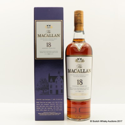 Macallan 18 Year Old 2016 Release 75cl