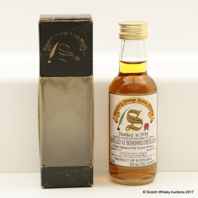 Benrinnes 1974 21 Year Old Signatory Mini 5cl