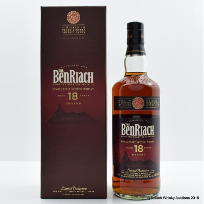 BenRiach 18 Year Old Peated Albariza