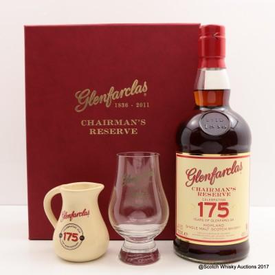 Glenfarclas 175th Anniversary Chairman's Reserve with Glencairn Glass & Jug