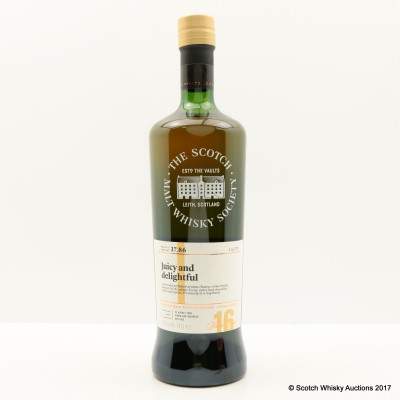SMWS 37.86 Cragganmore 2000 16 Year Old