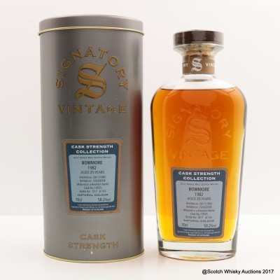 Bowmore 1982 25 Year Old Signatory