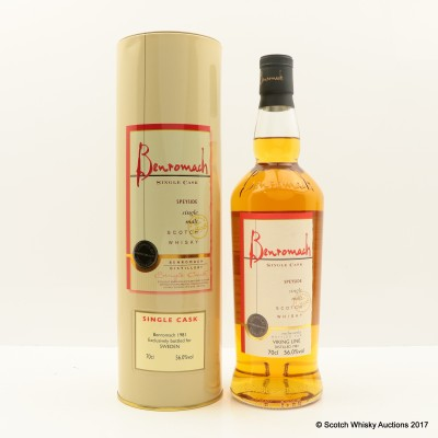 Benromach 1981 Single Cask Exclusive For Viking Line Sweden