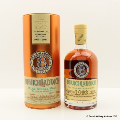Bruichladdich 1992 17 Year Old T.B. Watson Ltd Centenary Bottling