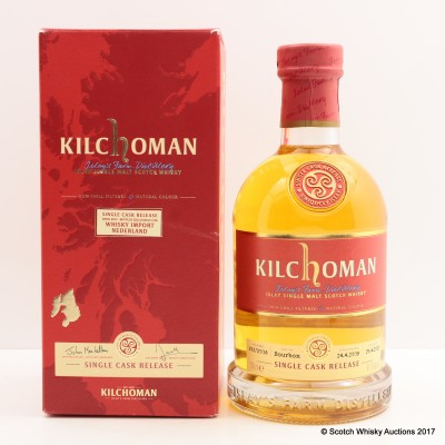 Kilchoman 2008 Single Cask for Whisky Import Nederland