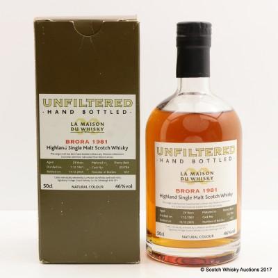 Brora 1981 24 Year Old Hand Bottled for La Maison du Whisky 50cl