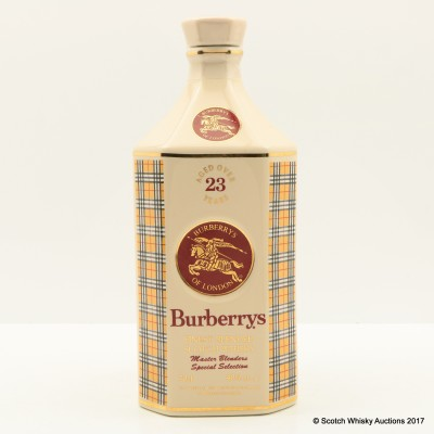 Burberrys 23 Year Old Master Blenders Special Selection Decanter
