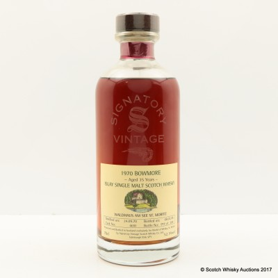 Bowmore 1970 35 Year Old Signatory For World Of Whisky St. Moritz