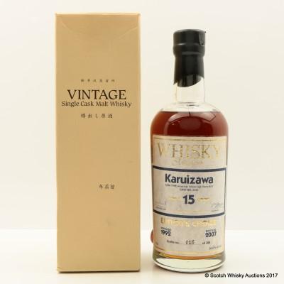 Karuizawa 1992 15 Year Old Whisky Magazine Editor's Choice Cask #3434
