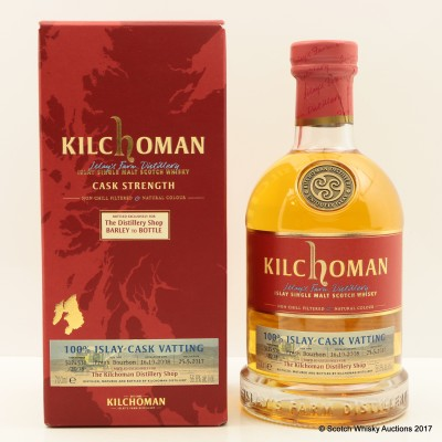 Kilchoman 2008 100% Islay Cask Vatting for The Distillery Shop