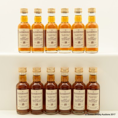 GlenDronach 15 Year Old Minis 12 x 5cl
