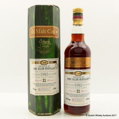 Port Ellen 1982 21 Year Old Old Malt Cask