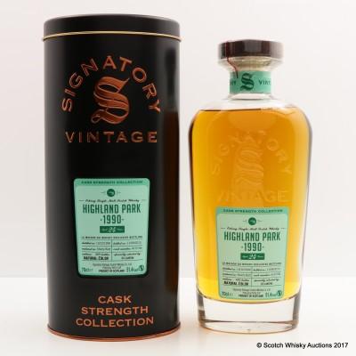 Highland Park 1990 24 Year Old Signatory For La Maison Du Whisky