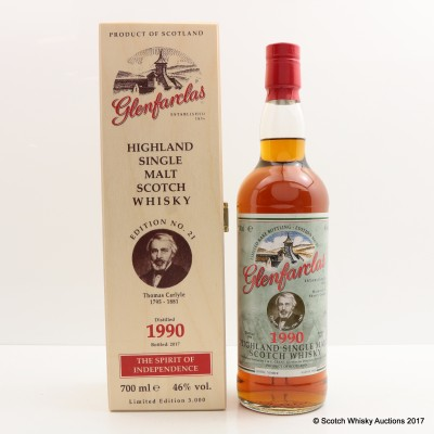 Glenfarclas 1990 The Spirit Of Independence Edition #21 Thomas Carlyle