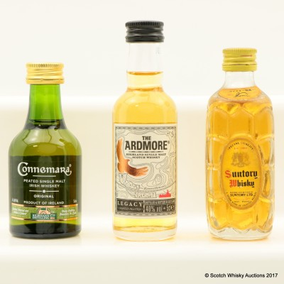 Assorted Miniatures 3 x 5cl Including Ardmore Legacy