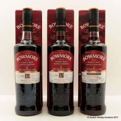 Bowmore Devil's Cask Collection 3 x 70cl