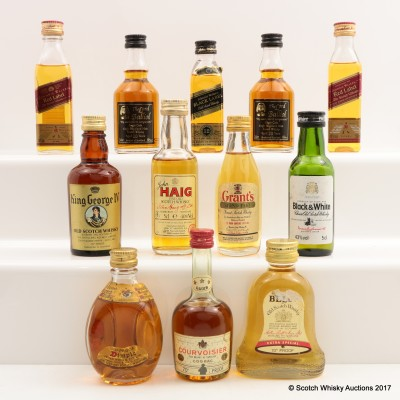 Assorted Minis 12 x 5cl Including Grant's Stand Fast