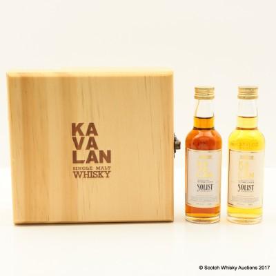 Kavalan Solist Sherry Cask & Bourbon Cask Minis 2 x 4.8cl