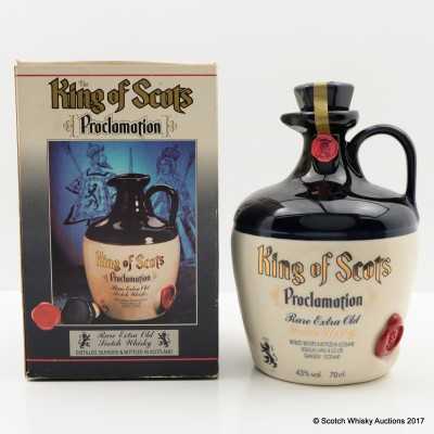 King of Scots Proclamation Ceramic Decanter