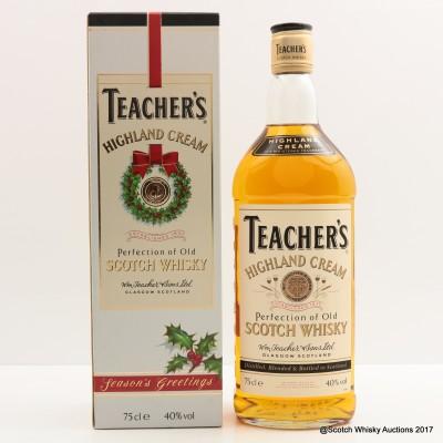 Teacher's Highland Cream Season's Greetings 75cl