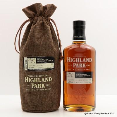 Highland Park 2003 13 Year Old Single Cask For Highland Park Appreciation Society Single Cask #2115