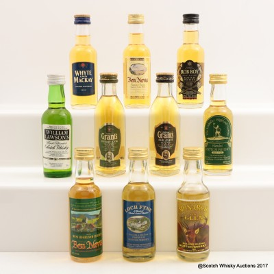 Assorted Minis 10 x 5cl Including Rob Roy Mini 5cl