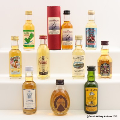 Assorted Minis 10 x 5cl Including The Ptarmigan 15 Year Old