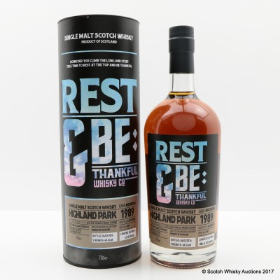 Highland Park 1989 Rest & Be Thankful Whisky Co