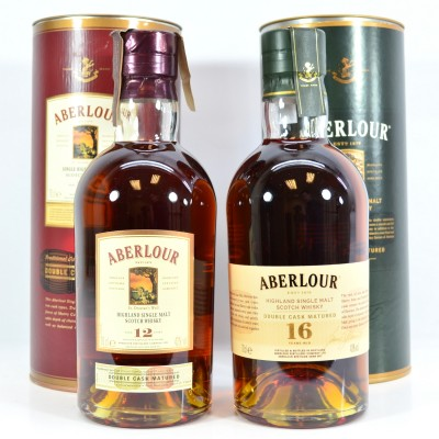 Aberlour Double Cask 12 Year Old & Aberlour Double Cask 16 Year Old
