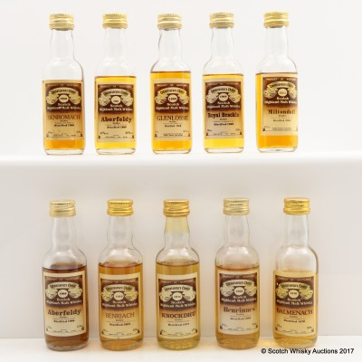 Assorted Connoisseurs Choice Minis 10 x 5cl Including Glenlossie 1968 Mini
