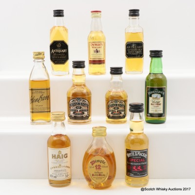 Assorted Minis 10 x 5cl Including Dimple 12 Year Old