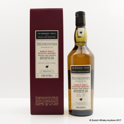 Benrinnes 1996 Managers' Choice