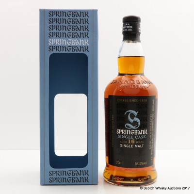 Springbank 2000 16 Year Old Sherry Cask