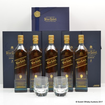 Johnnie Walker Blue Label Gods Of Wealth Set 5 x 1L