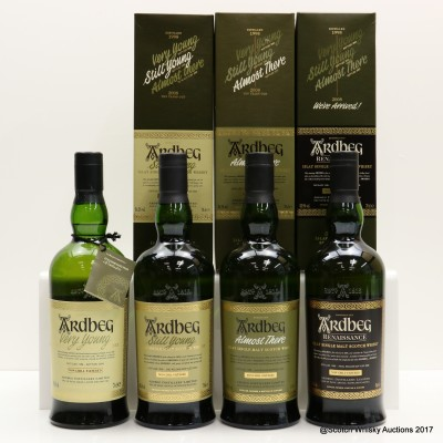 Ardbeg Journey - Very Young, Still Young, Almost There & Renaissance