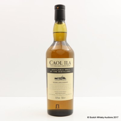 Caol Ila Distillery Only Cask Strength 2007 Release