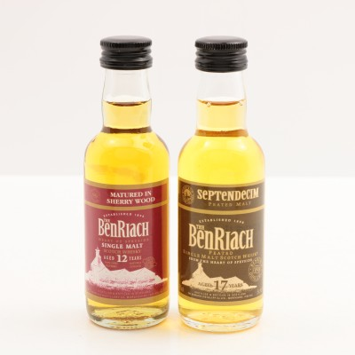 BenRiach Septendecim 17 Year Old Mini 5cl & BenRiach 12 Year Old Mini 5cl