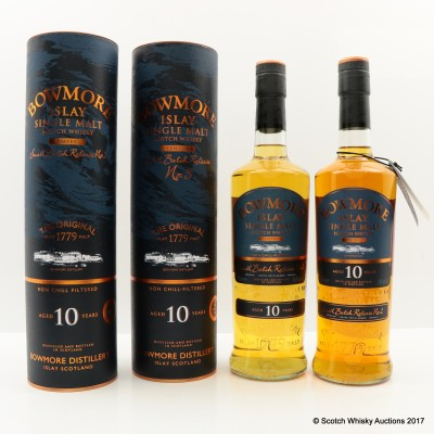 Bowmore Tempest 10 Year Old Small Batch Release #2 & Bowmore Tempest 10 Year Old Small Batch Release #3