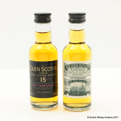 Glen Scotia 15 Year Old Mini 5cl & Glen Scotia Victoriana Mini 5cl